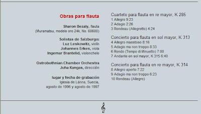 Mozart - Col. El País 250 Aniversario-(2006)-10-Obras para flauta-contenido