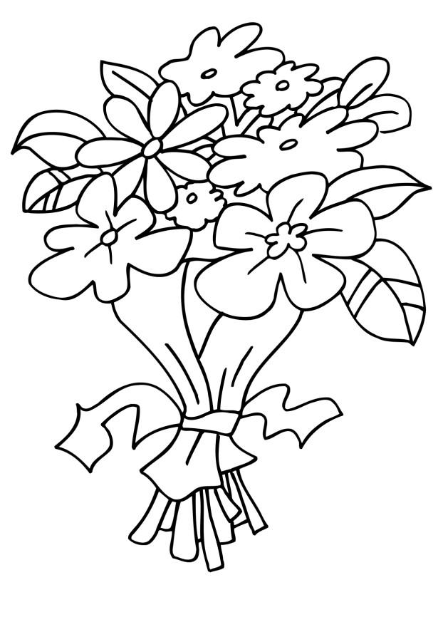 Flower Bouquet Coloring Pages Flower Coloring Page Bouquet Flowers Coloring Pages