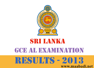 Sri Lanka GCE AL August Examination Results 2013