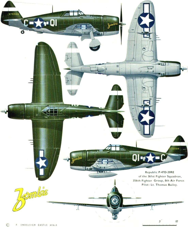 Dunham Southwest 1:72 listo modelo Easy Model p-47d Razorback flown by William D