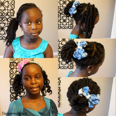 5 Quick and Easy Twists Hairstyles for Natural Hair Girls | Back To School