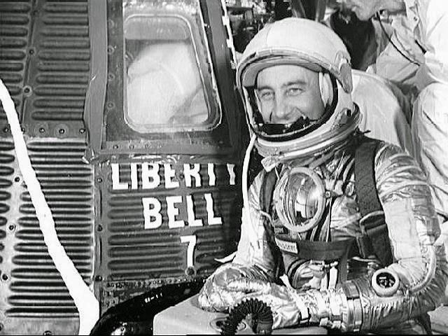 Grissom en la Liberty Bell 7