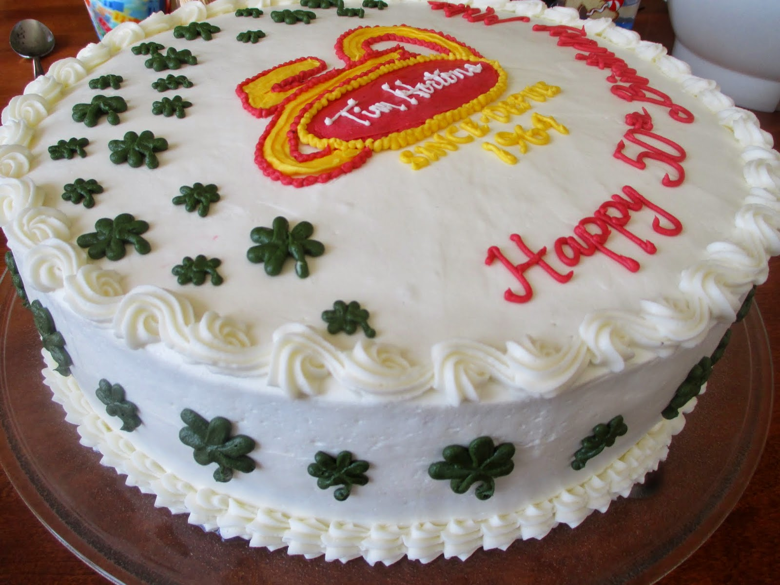 Dwyers Farmhouse A 50th Birthday Cake With Tim Hortons