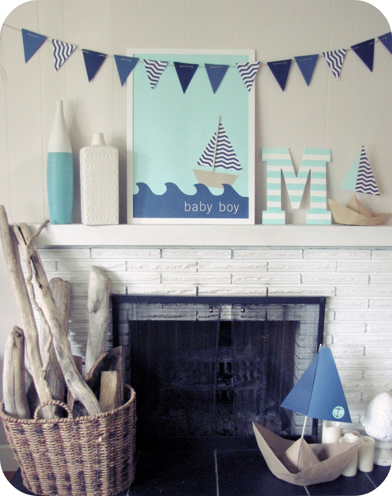 baby boy nautical baby shower