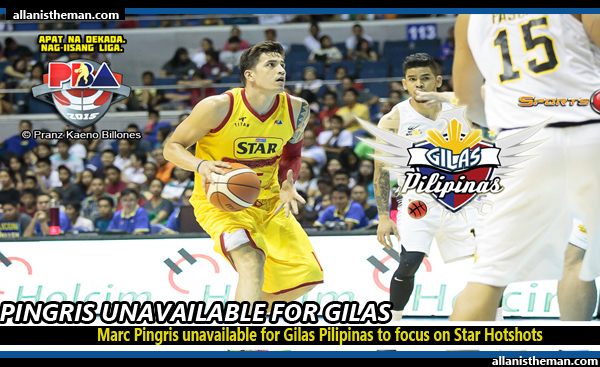 Marc Pingris unavailable for Gilas Pilipinas to focus on Star Hotshots