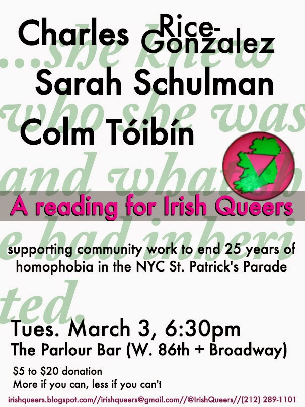 Flyer for March 3 reading