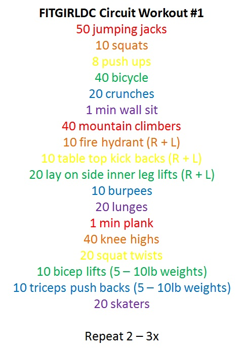 work out list