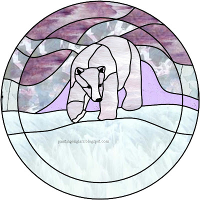 FREE BEAR STAINED GLASS PATTERN
