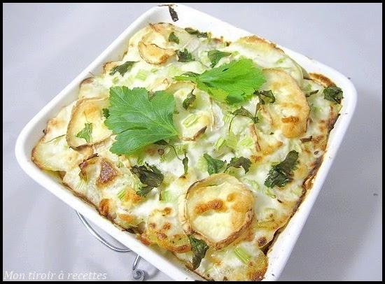 gratin céleri patates