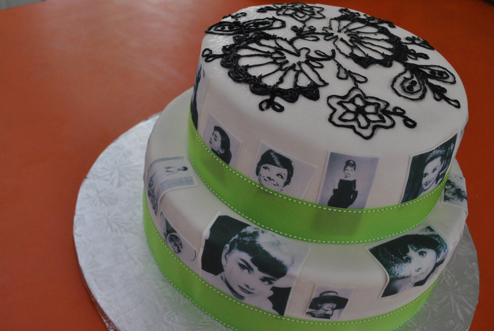 Local Edible Cake Images : Pure Imagination: Audrey Hepburn Cake