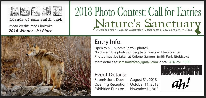 "OCTOBER 2018 ""NATURE'S SANCTUARY"" PHOTO EXHIBIT/COMPETITION - HOW TO ENTER"