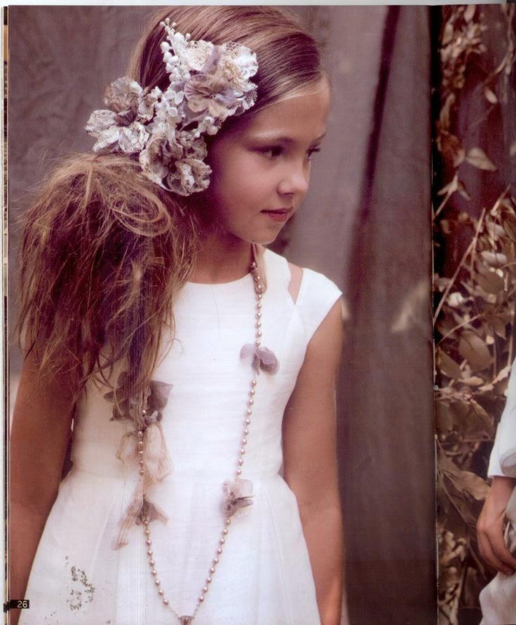Peinados De Comunion Con Corona - Especial Primera Comunión niñas peinadas como princesas