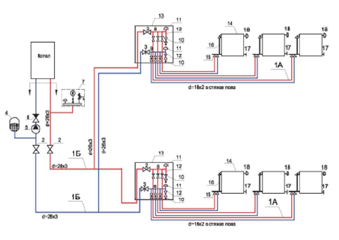 Как собрать отопление в доме своими руками схема фото 996