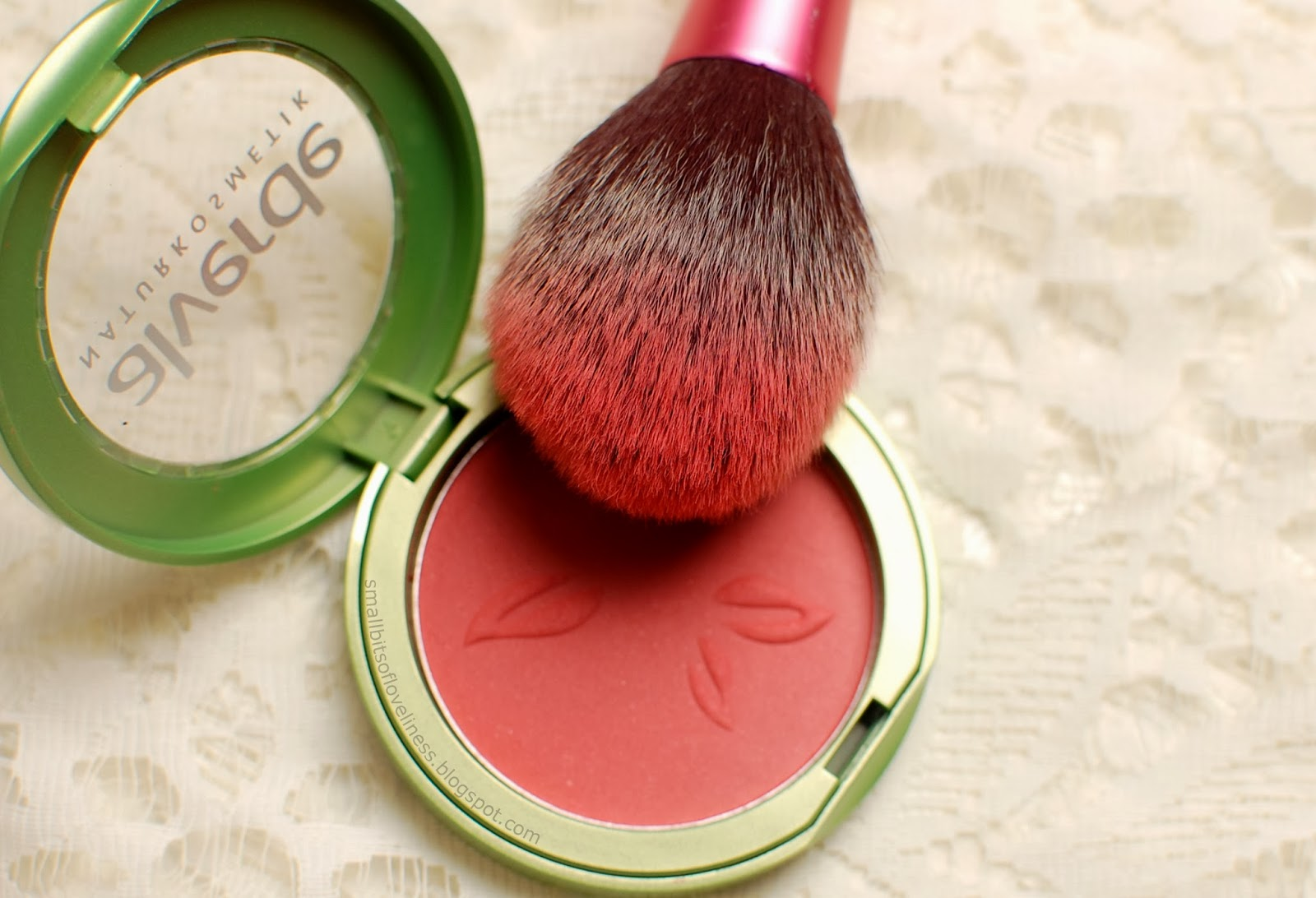 Alverde Blusher Flamingo, Real Techniques Blush Brush