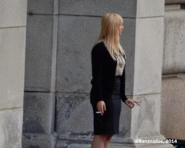 Holly Hunter en el rodaje de 'Batman V Superman: Dawn of Justice'