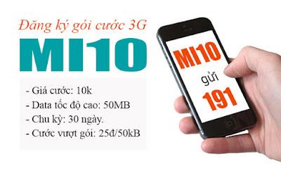Hình ảnh goi cuoc mi10 viettel in Đăng ký gói 3G Mi10 Viettel chỉ 10.000đ/tháng