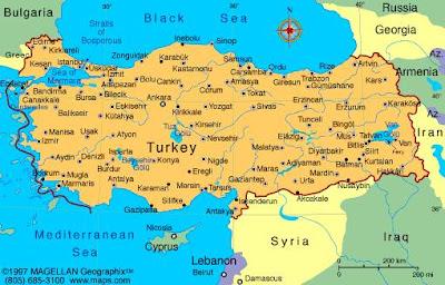 Map of Turkey Region and City
