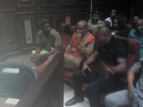 Nnamdi Kanu arrives court for consideration of bail