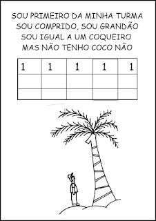 Atividades Numerais - Atividades com Números - Educação Infantil Um
