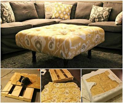 DIY Pallet Ottoman
