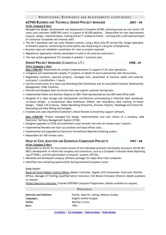 it recruitment agency  what makes a good cv