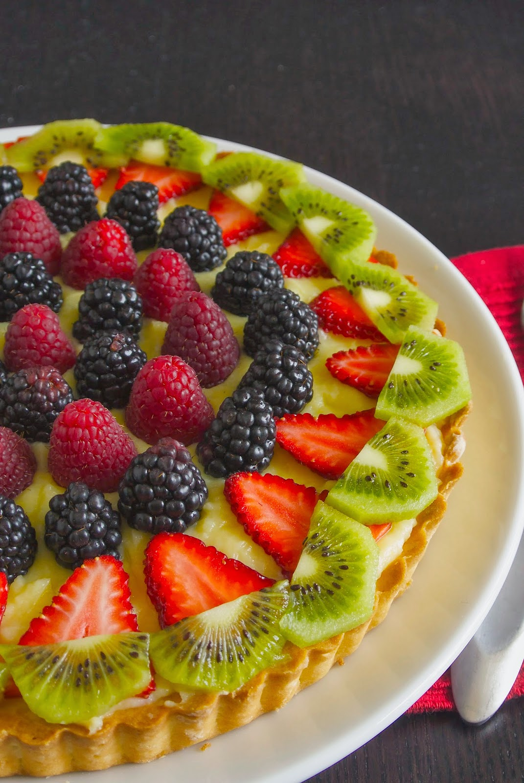 Berry custard tart