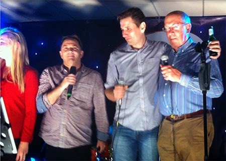 David Todd lets his hair down and belts out 'Hey Jude' at the Kirona Rocks evening entertainment