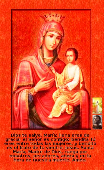 Virgen Madre de Dios con Jesus