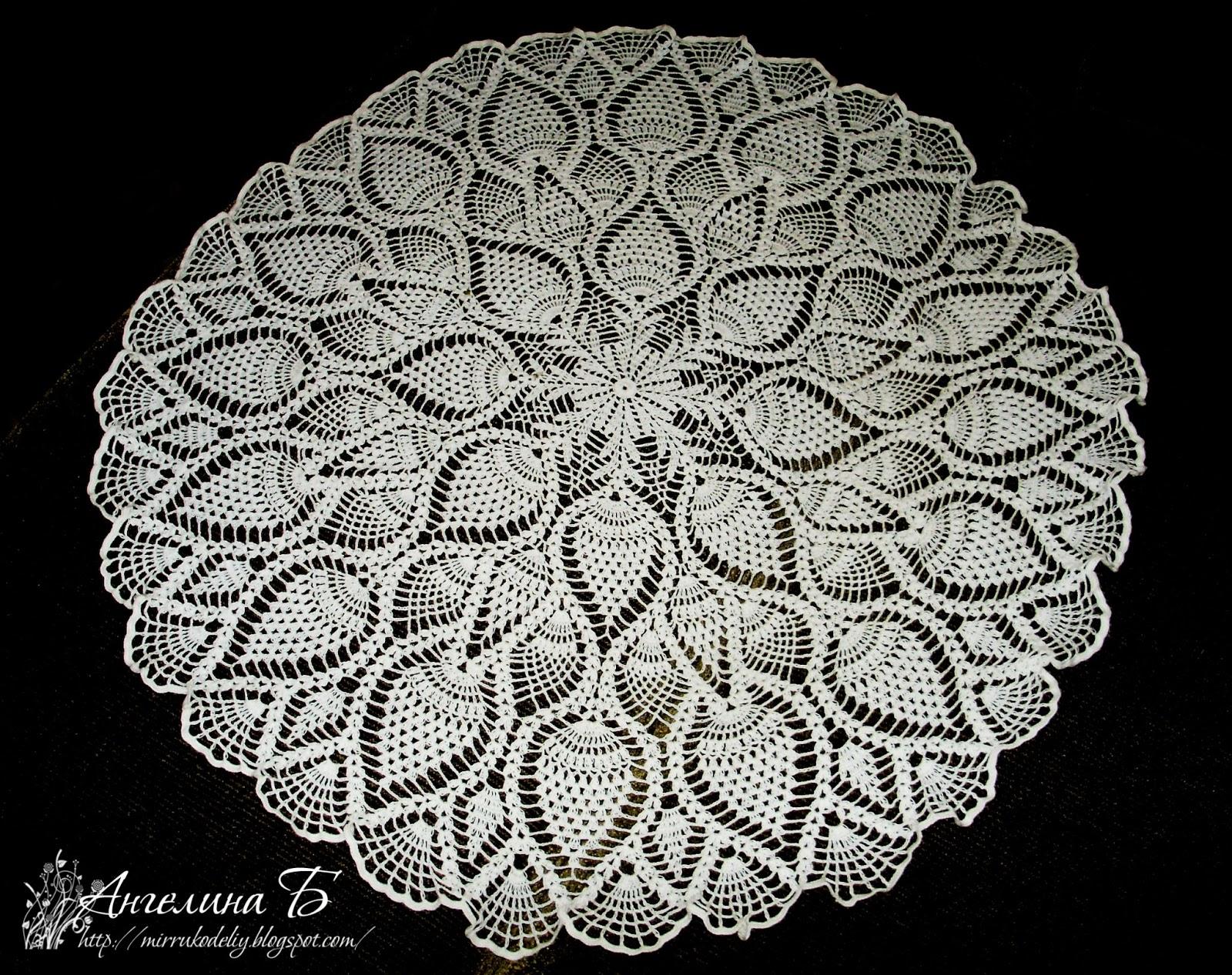 Салфетка ананасами крючком фото