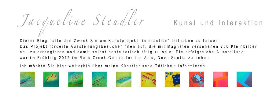 Jacqueline Steudler Kunst und Interaktion
