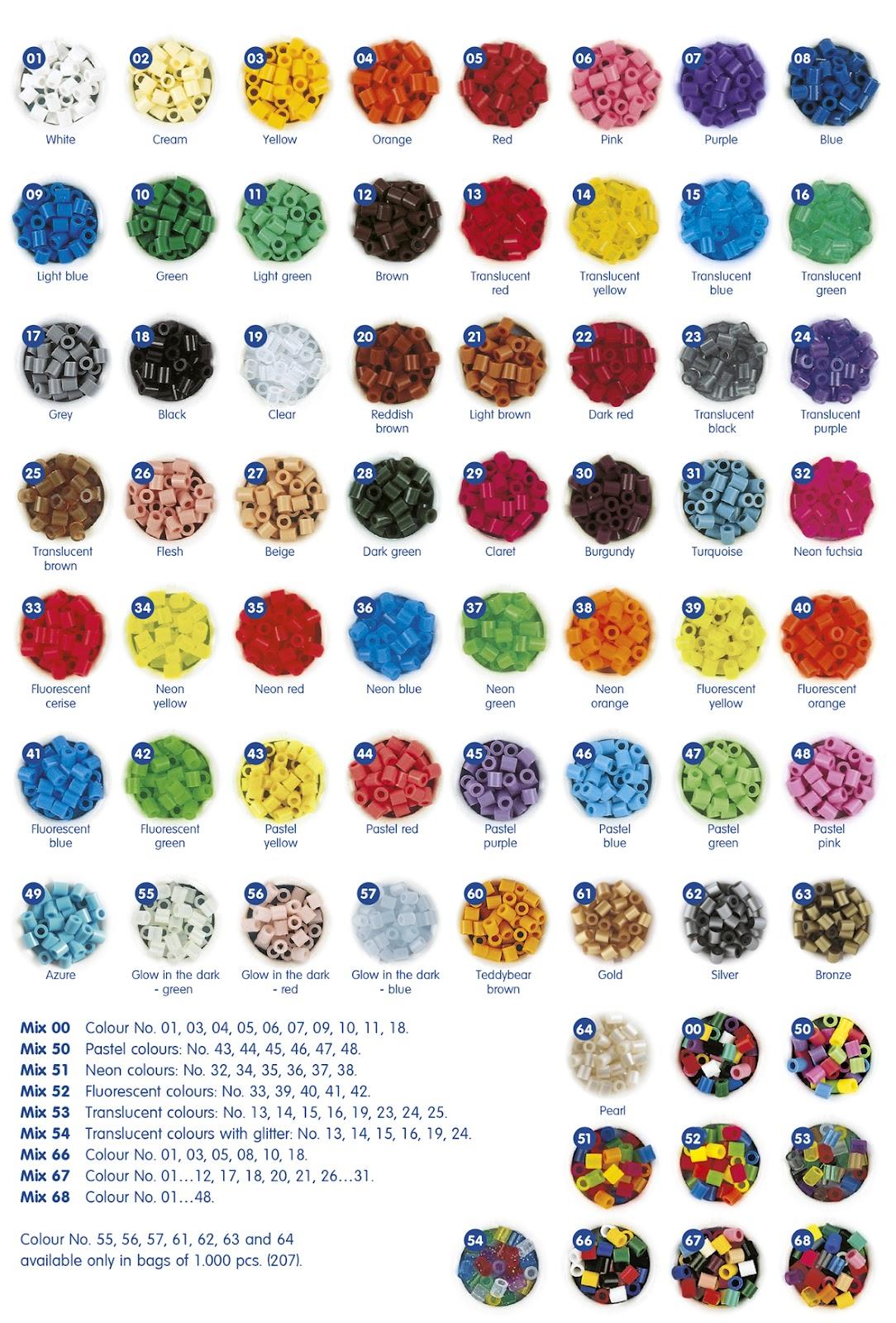 Colores y placas o pegboards hama beads - Como conseguir color naranja ...