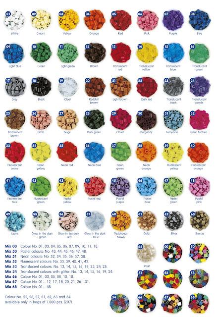 Carta colores Hama Beads 2012