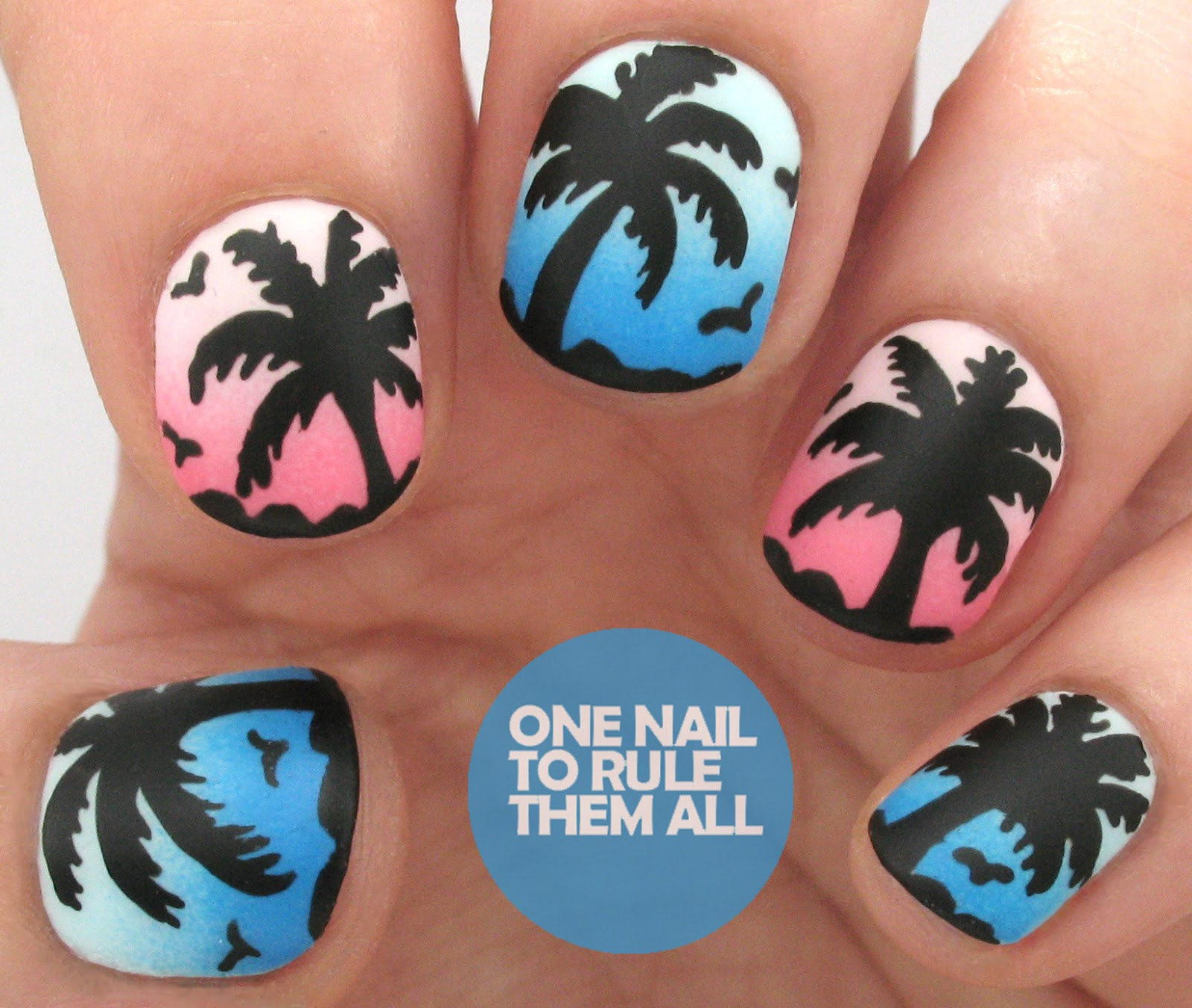 One Nail To Rule Them All Barry M Nail Art Pens Review: One Nail To Rule Them All: Tutorial Tuesday: Palm Trees