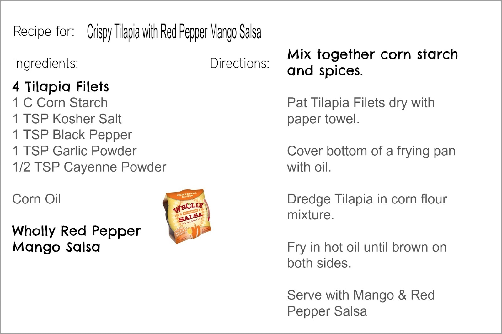 Click On Image For Printable Recipe Card