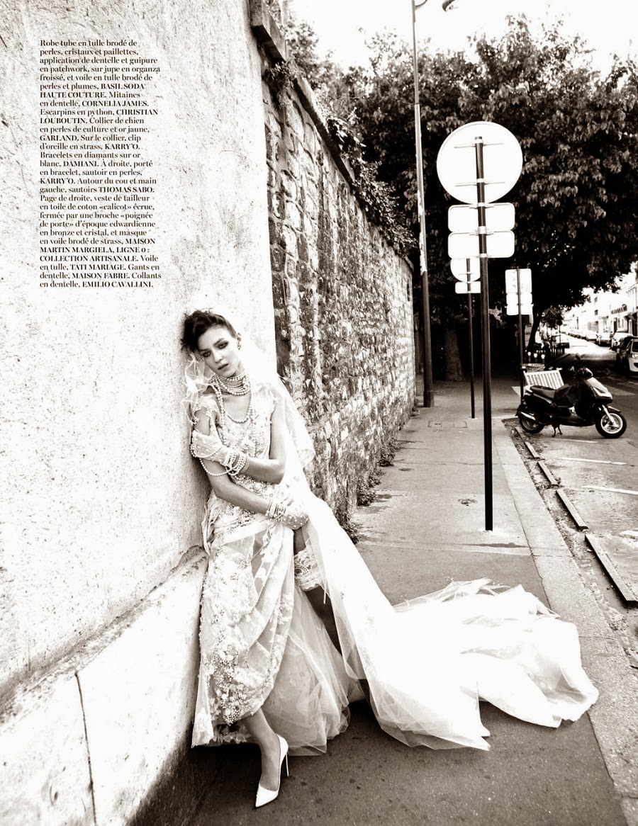 Kati Nescher in 'Haute Couture' by Inez & Vinoodh and styled by Emmanuelle Alt for Vogue Paris November 2012 | Ses Rêveries