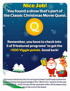 The Classic Christmas Movie Quest, Viggle, Viggle Live, Viggle Mom