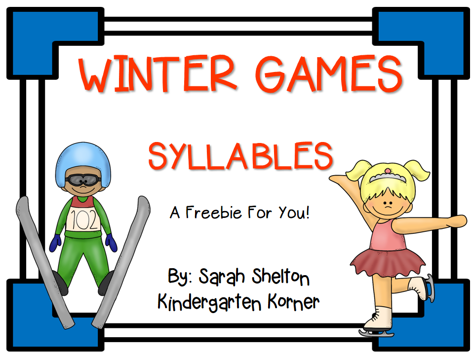 http://www.teacherspayteachers.com/Product/Winter-Games-Syllables-1116258