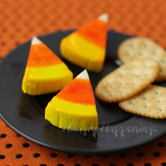 Candy Corn Cheese Wedges by Hungry Happenings