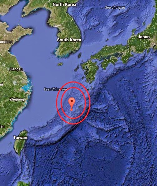 Magnitude 5.8 Earthquake of Nago, Japan 2014-10-22