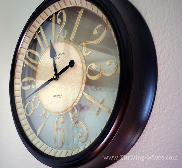 vintage home decor clock
