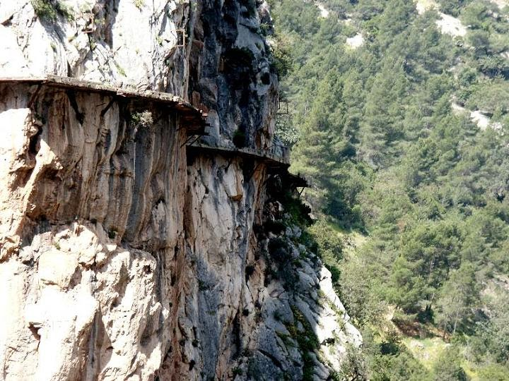độ cao Caminito del Rey - con đường của nhà vua