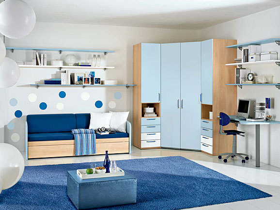 Dormitorios para chicas adolescentes en azul dormitorios for Cuartos pintados de azul
