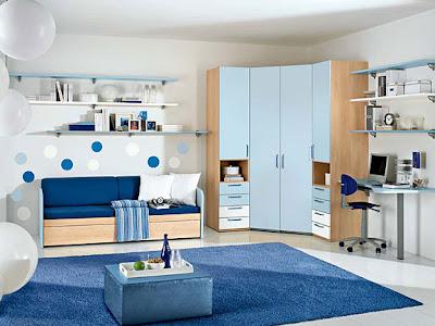 dormitorio en azul para chica