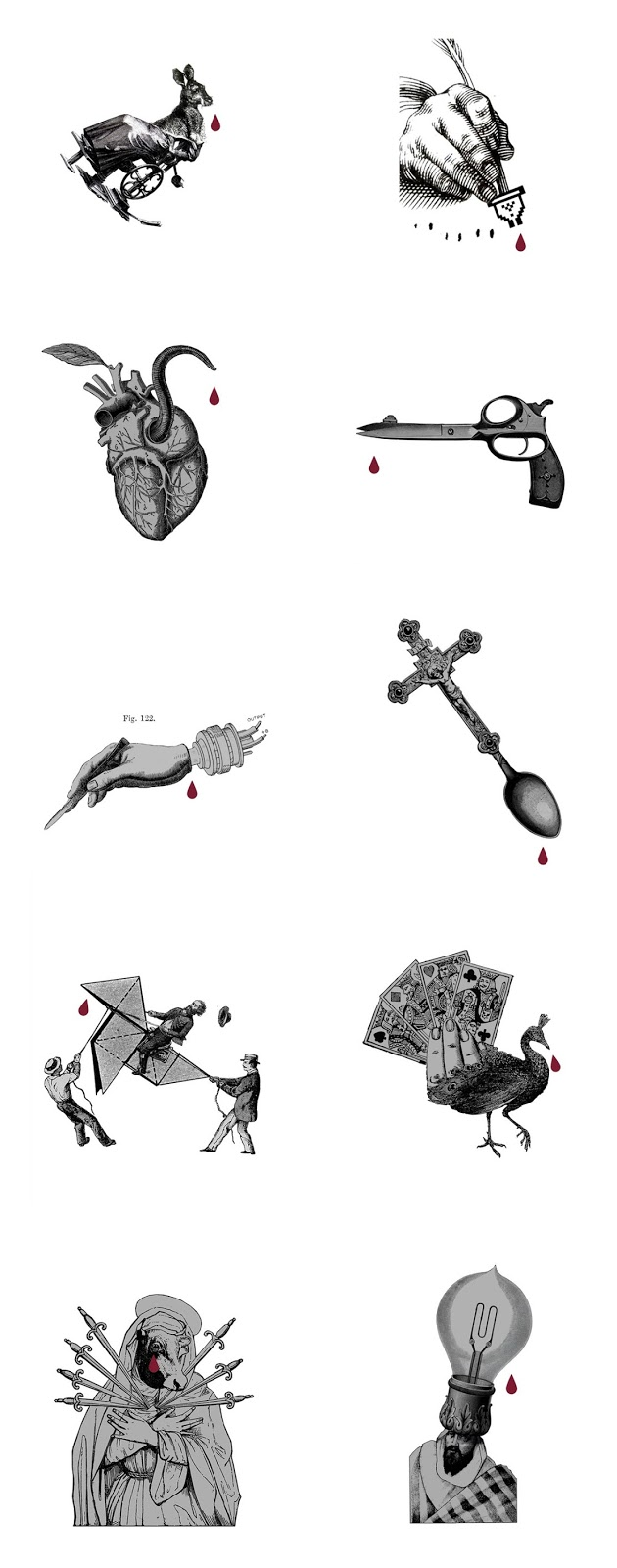 a primera sangre_collage-poesia visual_collage poetico_Valencia_ilustrador_Gustavo_Solana_cutandpaste_collagedigital_virgen_tijeras_vega_tordesillas_terrorist