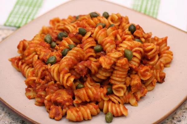Pressure Cooker Turkey Fusilli Pasta