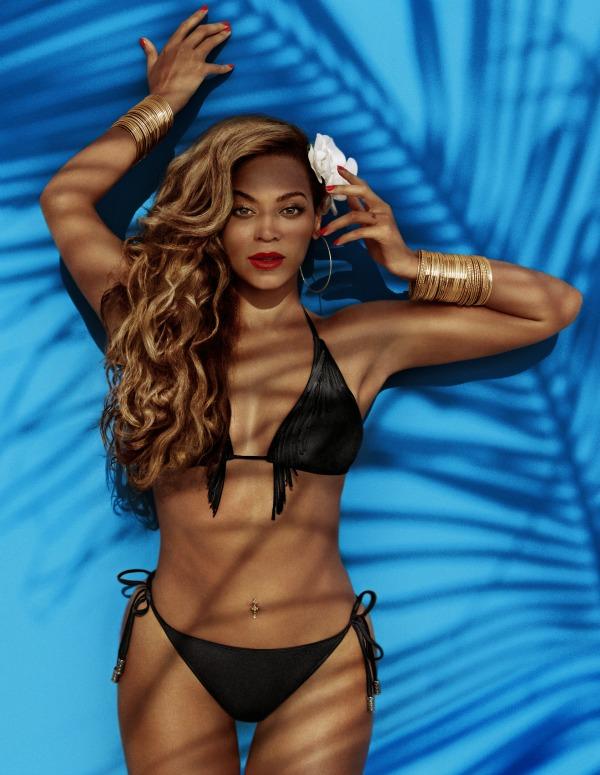 Beyoncé for H&M Summer 2013 - campaign black fringed bikini
