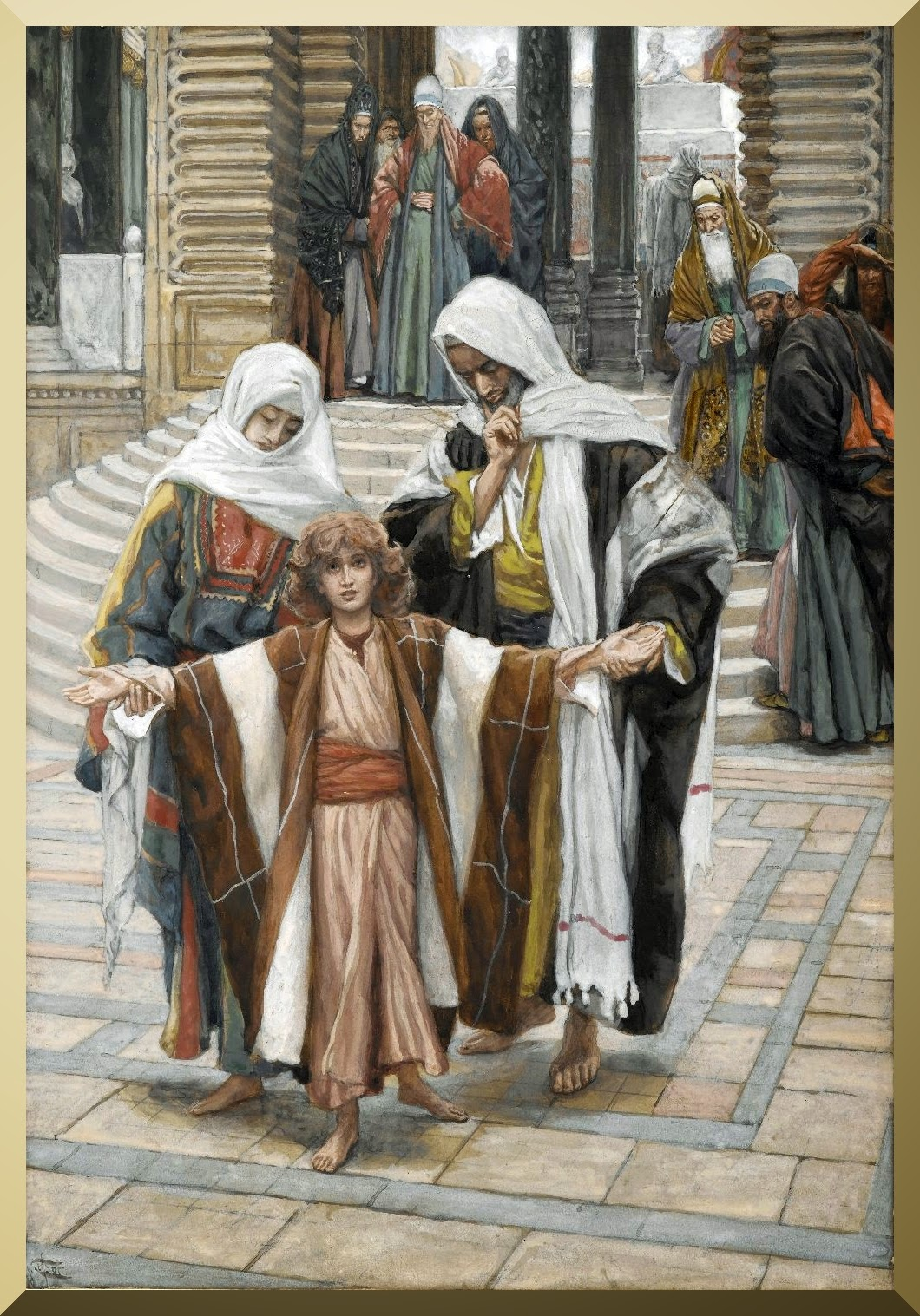 """Jesus Found in the Temple"" -- by James Tissot"