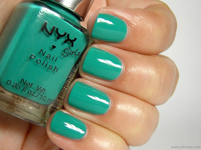 NYX Girls Nail Polish in Mermaid Green