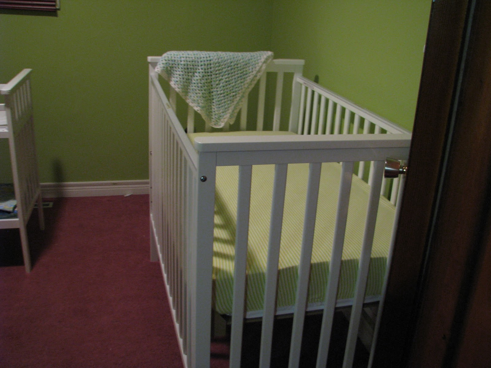 ... Baby I Didnu0027t Want A Convertible Crib. It Has 3 Heights You Can Adjust  The Crib To. It Also Has A Teething Rail On The Side. Overall A Good Solid  Basic ...