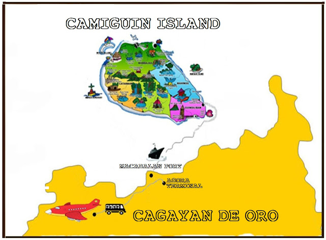 Cagayan de Oro Camiguin Map, Cagayan de Oro to Camiguin island, camiguin island, how to go to camiguin island, cagayan de oro camiguin